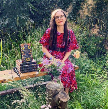 Jane in the garden